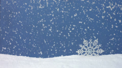 Snow falling, winter still life, slow motion Stock Footage