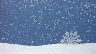 Stock Video Footage of Snow falling, winter still life, slow motion