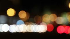 City lights at night Stock Footage