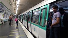 Metro in Paris, France timelapse Stock Footage