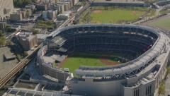 New York City, NY - October 26, 2012: Aerial shot of Yankee Stadium, New York - stock footage