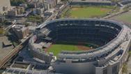 Stock Video Footage of New York City, NY - October 26, 2012: Aerial shot of Yankee Stadium, New York