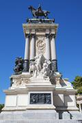 monument in memory of king alfonso xii - stock photo