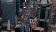 Stock Video Footage of Aerial view of Times Square in New York City