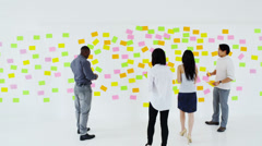 Creative business team brainstorming ideas and concepts - stock footage