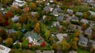 Stock Video Footage of Aerial shot of New York suburb