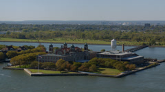 Ellis Island and Statue of Liberty - stock footage