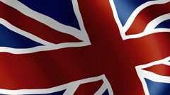 Flag of Great Britain, England, Great Britain. Stock Footage