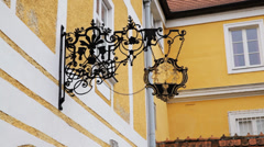 Durnstein Old Inn Sign Stock Footage