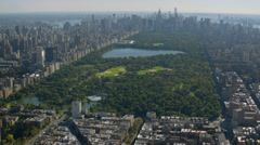 Aerial shot of Central Park, New York City Stock Footage