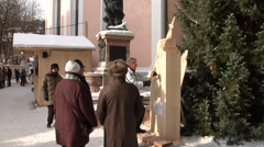 Sculptor in Mittenwald, Bavaria, Germany. Stock Footage