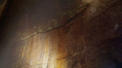 Scientists and miners exploring dark caves.  Geologists, explorers, adventurers, - stock footage