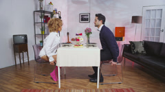 Funny couple who's relationship is set for a breakdown. Short video where - stock footage