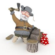 The grandfather with a sledge. Stock Illustration