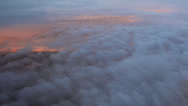Stock Video Footage of Sunset Clouds seen from Aeroplane