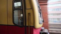 Public transportation Berlin Stock Footage