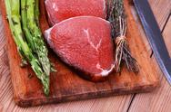 Stock Photo of prime fillet meat : dry raw beef