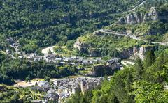 Stock Photo of sainte-enimie, gorges du tarn