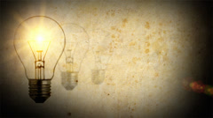 Light bulb idea screen Stock Footage