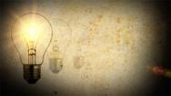 Light bulb idea screen Stock Footage