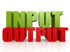 Input output Stock Illustration
