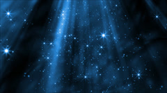 Dust particles drifting in light beam, twinkling in the light with a magical or - stock footage