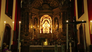 Stock Video Footage of interior of las nieves church, santa cruz de la palma, spain