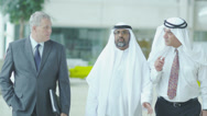 Middle eastern businessmen Stock Footage