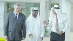 Middle eastern businessmen - stock footage