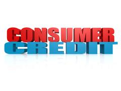 Consumer Credit - stock illustration