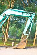 Excavator arm and backhoe Stock Photos
