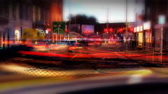 Time lapse traffic shot using timelapse camera XDCam HD with streaking lights - stock footage