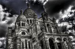 Sacre-coeur basilica in paris, france Stock Photos