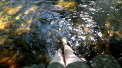 Rippling water and currents of a flowing river in HD. Stock Footage
