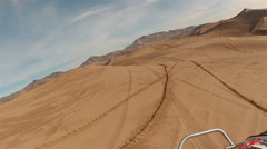 Little Sahara Sand Dunes Utah follow motorcycle POV HD 0027 Stock Footage