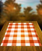 autumn table backdrop - stock illustration