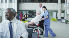 Assisting people when life throws unexpected obstacles in your way. A hospital  Stock Footage