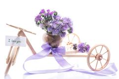 Bouquet of flowers with blue phacelia Stock Photos