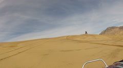 Little Sahara Sand Dunes Utah POV follow motorcycle HD 0027 Stock Footage
