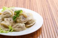Stock Photo of boiled pelmeni
