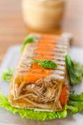 meat aspic - stock photo