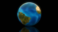 Glass globe rotation with matte Stock Footage