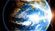 Stock Video Footage of Network Earth - Communication across the world. An animated epic view of our