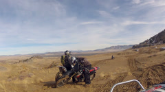 Motorcycle at Little Sahara Sand Dunes Utah POV HD 0029 Stock Footage