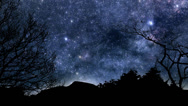Stock Video Footage of Beautiful timelapse animation of twinkling stars and planets moving across the