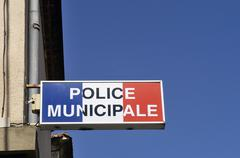 office of municipal police - stock photo
