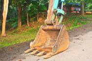 Stock Photo of excavator arm and backhoe
