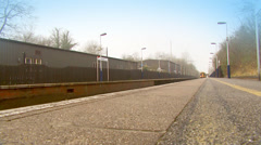 Train arrives at it's destination Stock Footage