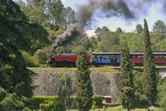 Pieni turisti juna anduze Cevennes Kuvituskuvat
