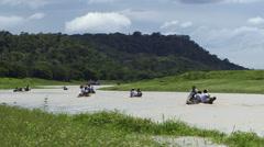 Tourist Amazon Rain Forrest - stock footage